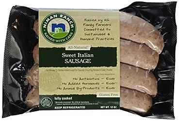 Niman Ranch, Uncured Sausage Sweet Italian, 12 oz