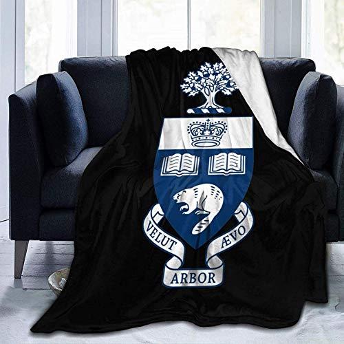 AEMAPE Manta de Tiro de la Universidad de Toronto, Suave y acogedora, cálida, Manta de Microfibra, Manta de Invierno de Lujo para sofá, Dormitorio, 60x80 Pulgadas