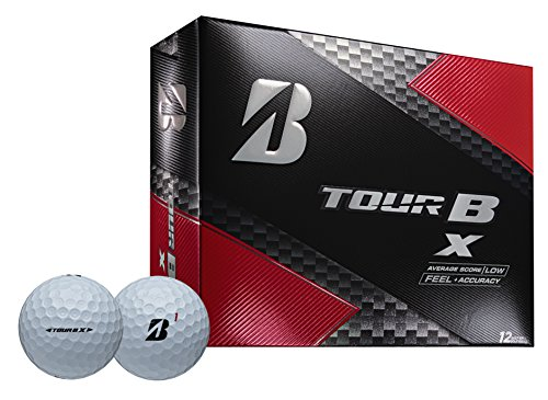 Bridgestone Golf Tour B X Golf Balls, White (One Dozen) - 760778082980