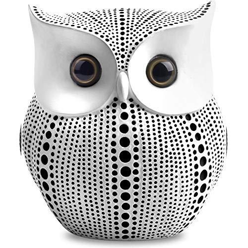 White Owl Statue Decor. Owl Figurines. Modern Home...