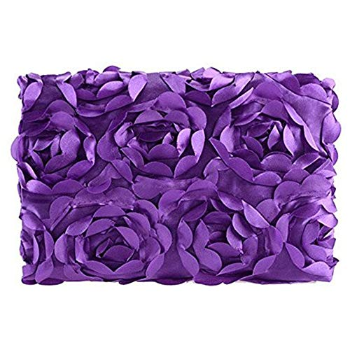 NFT Baby Photography Props Newborn 3D Rose Flower Photo Backdrop Blanket Rug (Purple)
