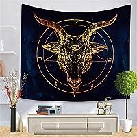 ブラックゴールド動物タペストリークロスボーダーゴールデンパターンシリーズ吊り布家の装飾桃肌背景布-スタイル5_150 * 200cm
