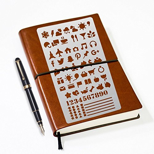 : 1000 Design Bullet Journal Stencil Set For Painting, Notebooks, Planners & All Your Crafts! 20 Templates Made From Durable Plastic! Approved For Leuchtturm & Moleskine A5 Notebooks!