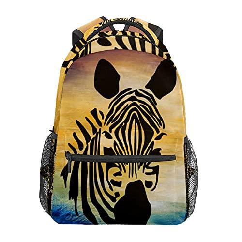 Disegnato a mano Zebra Daypack Zaino Scuola College Viaggi Escursionismo Moda Laptop Zaino per Donne Uomini Teen Casual Borse di Tela