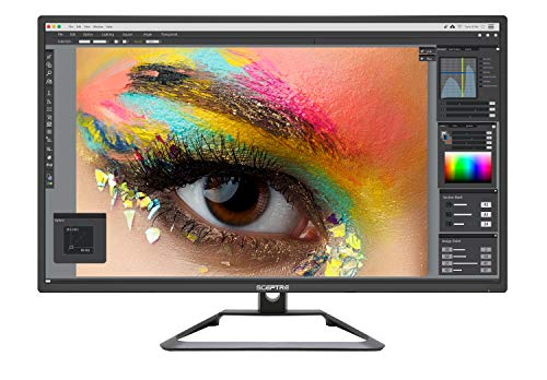 Sceptre IPS 27' 4K UHD LED Monitor up to 75Hz DIsplayPort HDMI DVI Build-in Speakers, Frameless Machine Black 2020 (U279W-4000R)