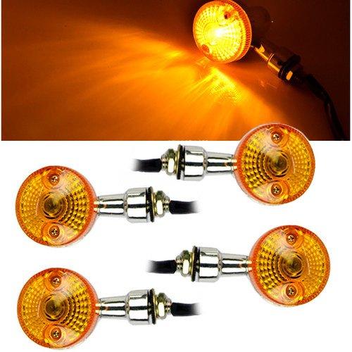 sedeta motocicleta Indicadores LED Señal de umdrehungs Leuchten indicador Blinker Amber Light 4pcs 12V universal de Energy Saving Moto intermitente Lámpara girar 12V ámbar Indicadores