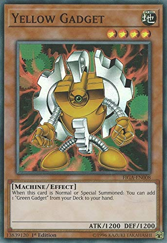 Yu-Gi-Oh! - Yellow Gadget - FIGA-EN008 - Super Rare - 1st Edition - Fists of The Gadgets