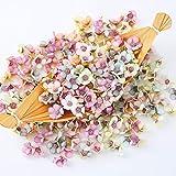 Mini Cabezas de Flores de Margarita,Cabezas de Flores Artificiales Multicolor,Cabezas de Margarita,Cabeza Artificial Gerbera,Cabezas Flores Seda Artificial,Flores Artificiales de Margarita (100)