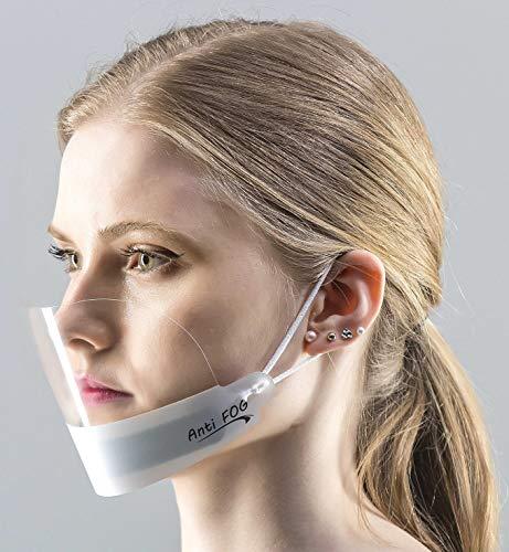 5X Visier Gesichtsvisier Face Shield Anti Fog KEIN BESCHLAGEN Weiss