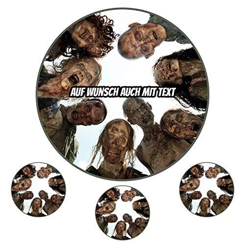 Tortenaufleger aus Zuckerpapier - Tortenbild Geburtstag Tortenplatte Zuckerbild Motiv: The Walking Dead 02