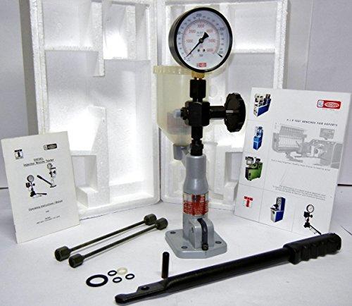 Boquilla de inyector diésel con medidor de escala dual de 0-400 bares/0-6000 PSI