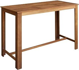 vidaXL Table de Bar Bois d'Acacia Solide 150x70x105 cm Table à Manger Cuisine