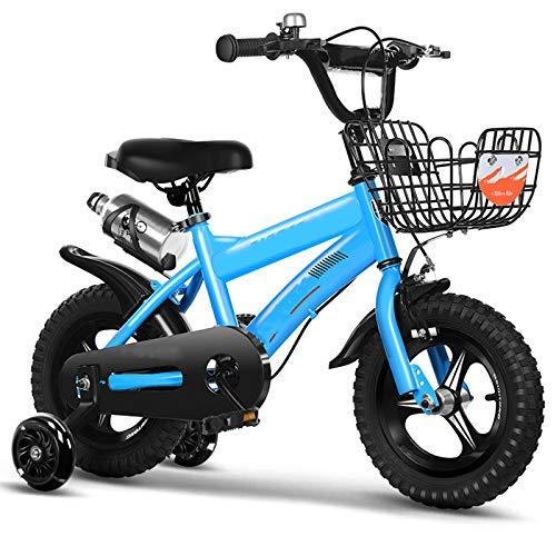 TXTC Bicicleta De Niño Y Niña, Bicicleta Cruiser De 14/16/18 Pulgadas, Bicicleta Infantil con Ruedas De Entrenamiento, Marco De Aleación De Alumini, Bicicleta Equilibrio Mejor Regalo para Niños
