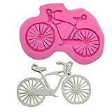 Beiersi Fahrrad Silikon Form für Fondant Marzipan Tortendeko Ausstecher Seife Dekoration Werkzeug (Stil 6)