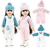 WENTS Puppenbekleidung 2PCS Einhorn Bekleidungs und Zubehörset Puppenkleider Puppenkleidung Set für 18 Zoll American Girl Dolls