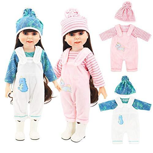 WENTS Ropa de Muñecas 2 Conjunto Ropa de Muñecas para New Born Baby Doll Unicornio Trajes 18