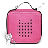 Tonie Transporttasche Pink: Die Box zur Aufbewahrung von bis zu 20 Tonies Hörfiguren - Leicht, Abwaschbar, Reißverschluss, 17,5x17,5 cm
