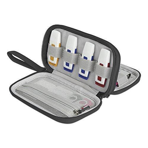 BUBM Doble Capa USB Flash Drives Estuche, Organizador de Viaje para Unidades de Disco/memorias USB/U Disk/Cables y Otros Accesorios electrónicos (L, Negro)