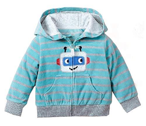 Baby Jungen Trenchcoat mit Reißverschluss, warm, Cartoon-Design, langer Trenchcoat Gr. 90 cm, As12