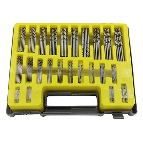 150 Pcs 0.4-3.2mm Pin Vise Mini Twist Drill Set, HSS Precision Micro Hand Drill Bits Kit for Drilling Tool DIY Model Making