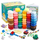 ESANDA Air Dry Clay Kit,50 Colors Modeling Clay with Sculpting Tool Sets and Accessaries, Ultra Light Magic Clay for Kids, Ideal DIY Crafts Clay Dough Gift for Boys and Girls