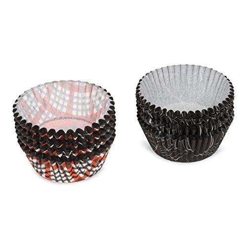 patisse Lot de 200 caissettes en Papier pour Cupcakes Noir 5 x 5 x 5 cm