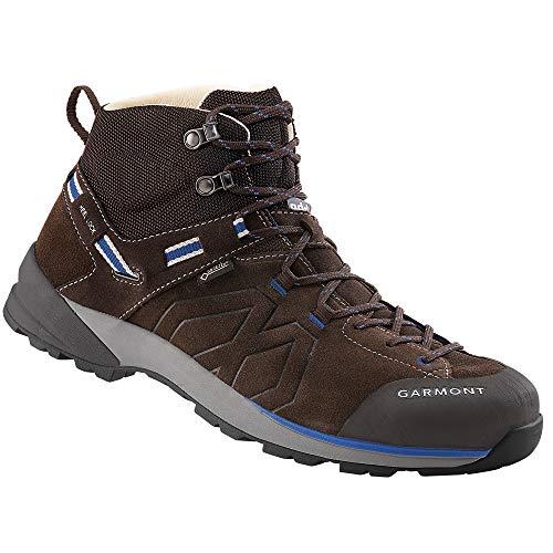 GARMONT SANTIAGO GTX Trekkingschuhe dunkelbraun / blau goretex Sportschuhe