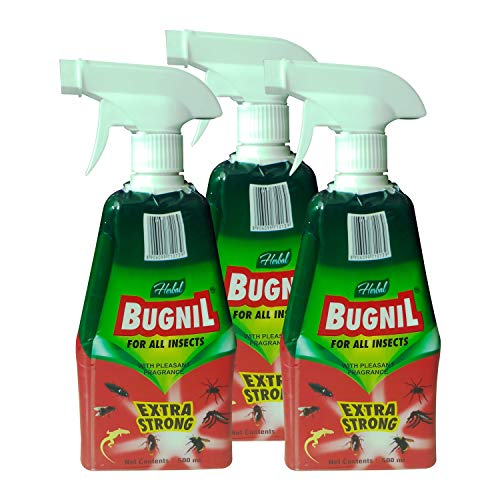 Bugnil Herbal Ants, White Ants, Cockroaches, Bedbugs, Lizards, Flies, Spider insects spray with pleasant fragrance - 500 ml (3)