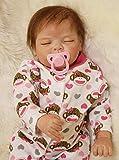 AIBAOLIAN Reborn Baby Puppen 55 cm 22 Zoll Weiche Silikon Vinyl Handgemachte Realistische Real Life...