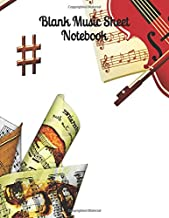 "Blank Music Sheet Notebook: Music Manuscript Paper / Staff Paper / Musician Notebook (Music Composition Book) 12 Staves, 8.5"" x 11"", 100 pages - Violin"