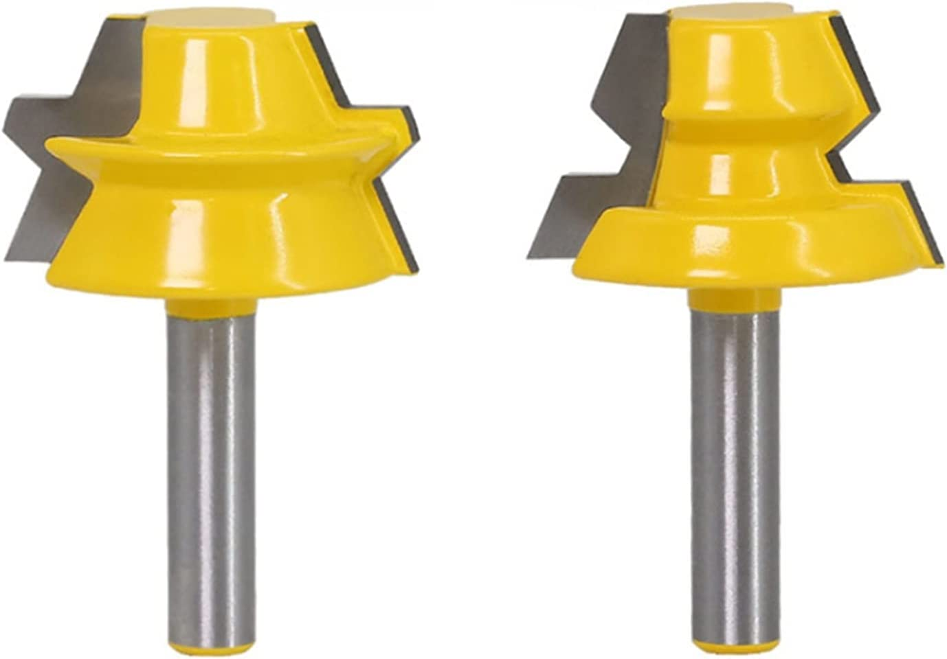 2Pcs Our shop OFFers the best service 8mm Shank Router Bit Octahedron M Wood Tenon Splice Max 68% OFF Mortise