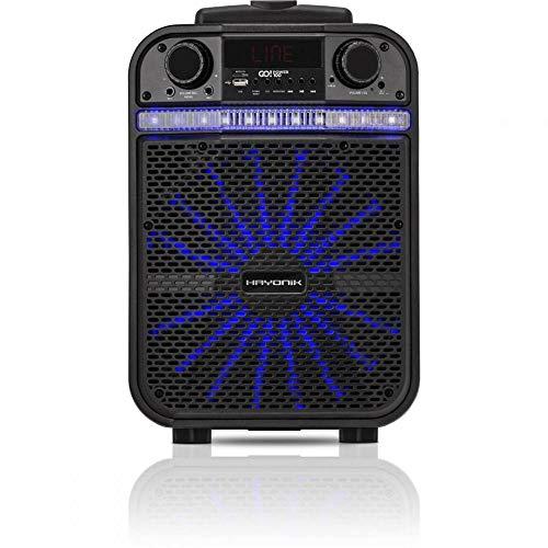 Caixa Multiuso Portátil, Hayonik, Go!Power 100, Bluetooth, 20, Preta