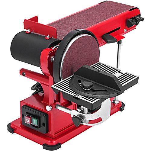 VEVOR Bandschleifmaschine, 375 W Band und Scheiben Schleifmaschine, 100 x 914 mm Riemengröße Bandschleifmaschine, 7,5 m/s Bandgeschwindigkeit Schleifgerät, 152 mm Scheiben Stand-Band-Tellerschleifer