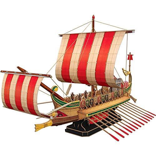 SKAJOWID Modelo 3D Barco De Acorazado Romano, Decoración Hogar, Dificultad De Montaje Difícil, Adecuado para Niños O Adultos De 14 Años, Regalo De Cumpleaños (328 Piezas)