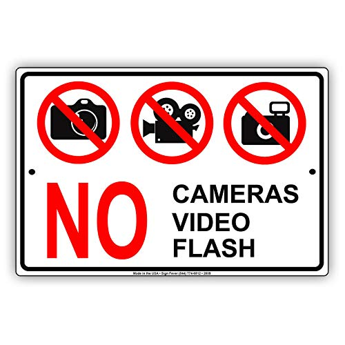 Inga No Cameras Video Flash Política de Privacidad Aviso de Prohibición Divertido...