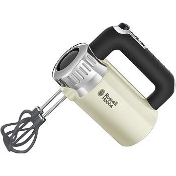 Russell Hobbs Retro - Robot de Cocina (850 W, Vaso Smoothies, Recipiente Mezclador, Disco de Corte y de Rallado, Crema) - ref. 25182-56: Amazon.es: Hogar