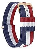 MOMENTO Bracelet de Montre pour Homme et Femme NATO Nylon Tissu avec Boucle en Acier Inoxydable en...