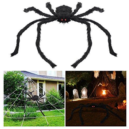 Araña gigante con ojos con luces LED