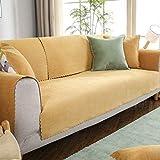 JKL J-Almohada Antideslizante Sofá Cover Felpa Funda de sofá, Cojines for 4, a Prueba de Agua Mat Sofá Sofá Universal de Toallas Muebles Protector Funda (Color : E, Size : 90x260cm(35x102inch))