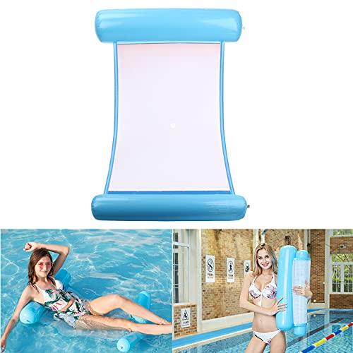 TUXUNQING Aufblasbares Schwimmbett,Aufblasbare Wasserhängematte,luftmatratze Pool,Pool Sessel,4 in 1 Luftmatratzen.Geeignet für Schwimmbad Erwachsene und Kinder aufblasbare Hängematte (Hellblau)