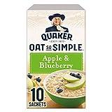 Quaker Oat So Simple Apple & Blueberry 10 x 36g - Vollkorn Haferflocken mit Apfel & Heidelbeeren -