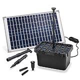 Solar Filtro de Estanque Set Completo Profesional - 875 L/H Capacidad Transporte + 25W Módulo - para Jardines hasta 3.000l - Decorativo Juego Agua - Bomba Esotec 100902