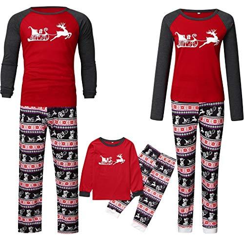 K-Youth Ropa para Padres e Hijos Pijamas de Navidad Familiar Conjuntos Bebe Niño Navidad Pareja Disfraz Ropa Mujer...
