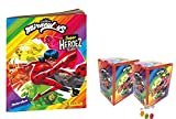 Panini Miraculous Ladybug Super Heroez Team Sticker – 1 álbum en blanco + 2 expositores – 50 bolsas de pegatinas & tarjetas Trading además 1 x surtido de frutas Sticker-und-co