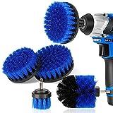 DAKCOS - Juego de 4 cepillos de taladro para limpiar el baño, pisos, baldosas de piscina, ladrillo, cerámica, mármol, lechada y coche