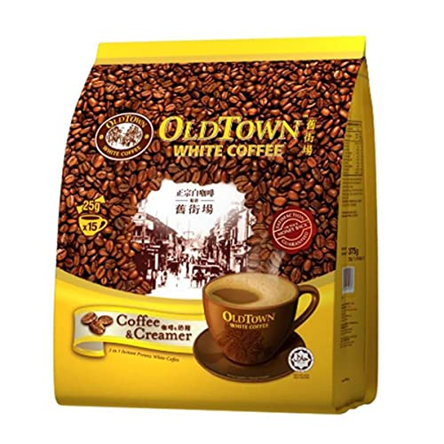 Malaysia Old Town White Coffee / 2 In 1 Coffee & Creamer/Great Taste, Full Body White Coffee Minus The Sugar/Great Choice For The Health Conscious / 15s x 25g