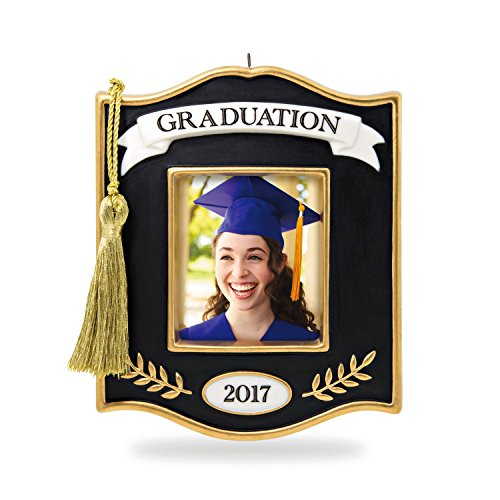 Hallmark Keepsake 2017 Congrats, Grad! Photo Holder Porcelain Dated Christmas Ornament