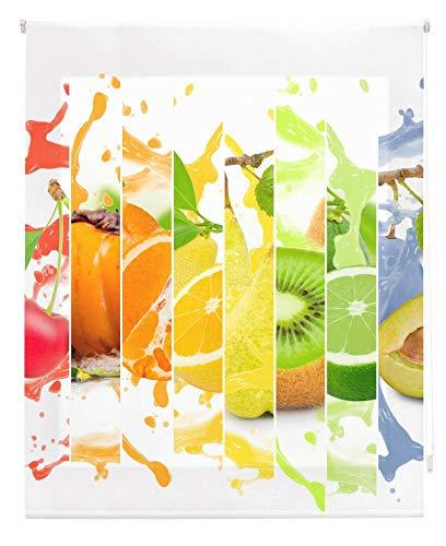 HappyStor HSCC76680 Estor Enrollable Estampado Digital Cocina Tejido Traslúcido Medida Total Estor:120x180 (**Solo Ancho Tela:116-117cm.**)