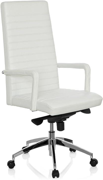 Sedia da ufficio / sedia presidenziale pelle bianco hjh office 660936 lenga