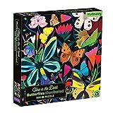 Mudpuppy Butterflies Illuminated 500 Piece Glow in The Dark Family Puzzle Greenhouse Gardens